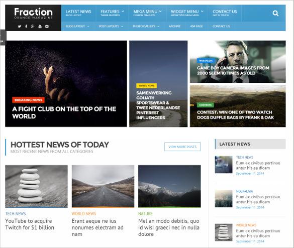 news template html5