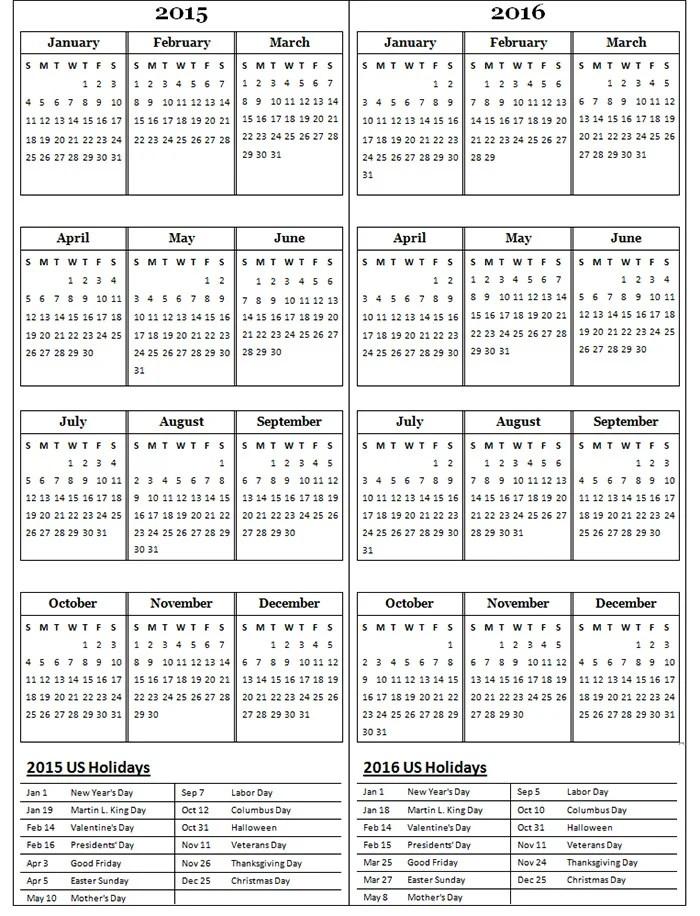 40+ Sample 2015 Calendar Templates  Designs Free Free  Premium