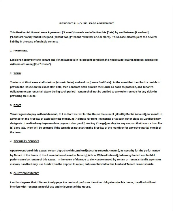 Month to Month Rental Agreement Template \u2013 12+ Free Word, PDF