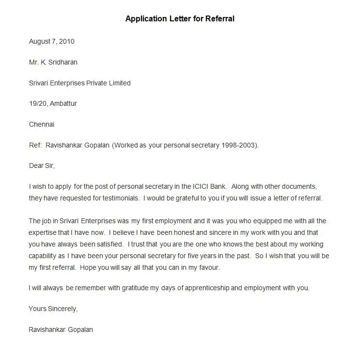 Sample Career Office Referral Cover Letters The Balance 50 Best Free Application Letter Templates And Samples