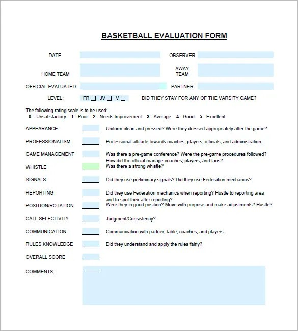 basketball evaluation forms for players - Ozilalmanoof - sample phase 10 score sheet template