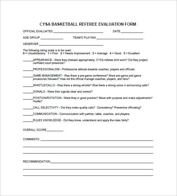 12+ Free Basketball Evaluation Forms Free  Premium Templates