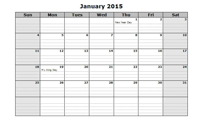 40+ Sample 2015 Calendar Templates  Designs Free Free  Premium - sample blank calendar