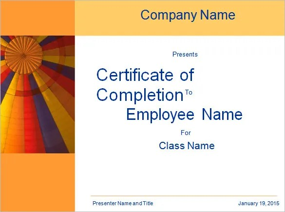 Word Certificate Template - 44+ Free Download Samples, Examples - free training certificates