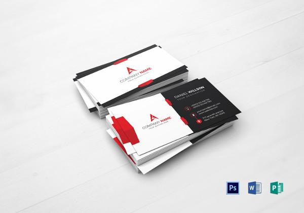 68+ Best PSD Business Card Templates Free  Premium Templates - card design template