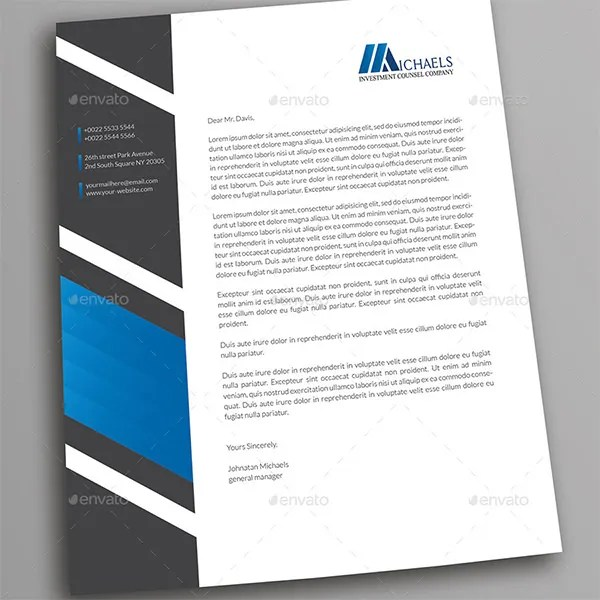 PSD Letterhead Template u2013 51+ Free PSD Format Download! Free - professional document templates