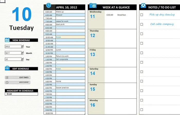 40+ Best Daily Calendar Templates \ Designs for 2015 Free - powerpoint calendar template