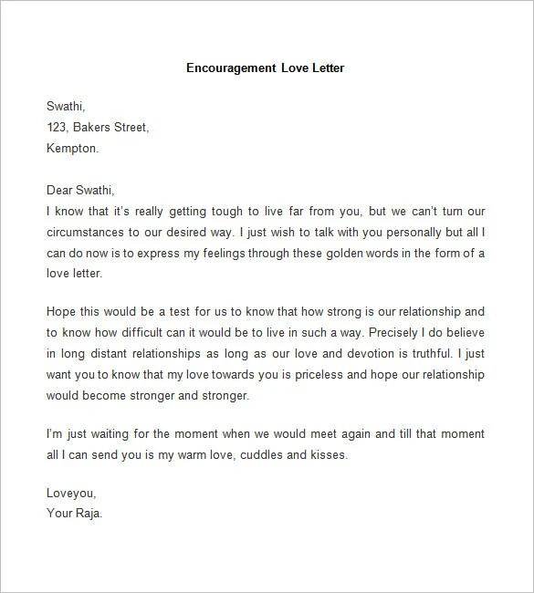 52+ Love Letter Templates - DOC Free  Premium Templates - encouragement letter template