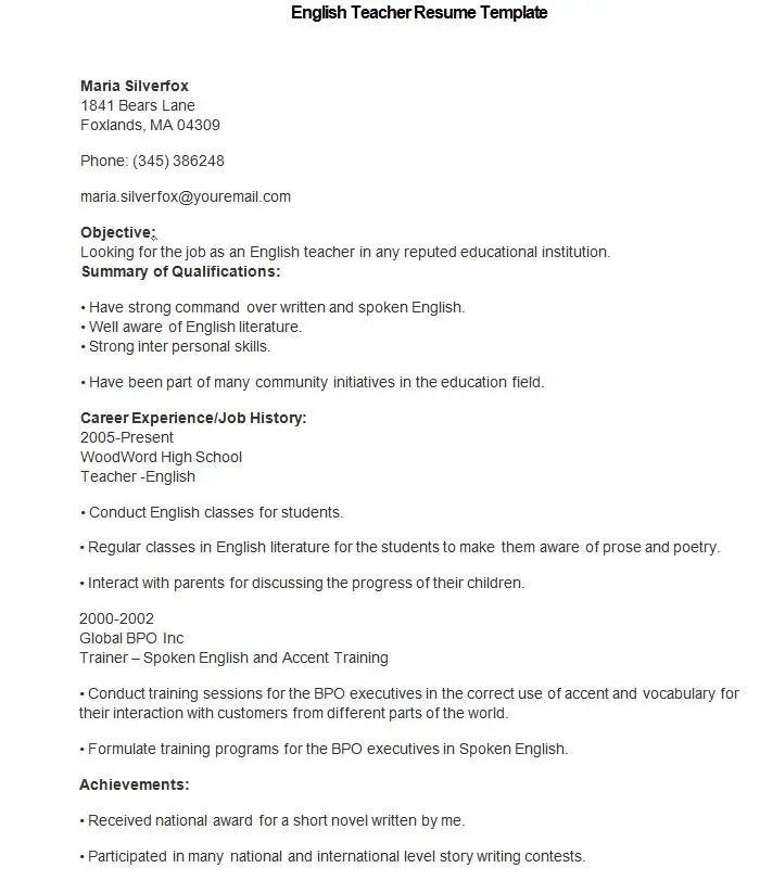 maths lecturer resume sample