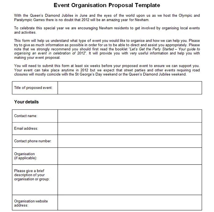 34+ Best Marketing Proposal Templates  Samples Free  Premium - event proposal template word