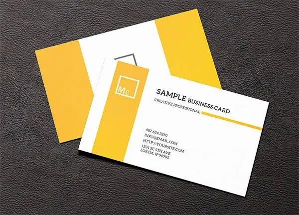 82+ Best PSD Business Card Templates Free \ Premium Templates - business card sample