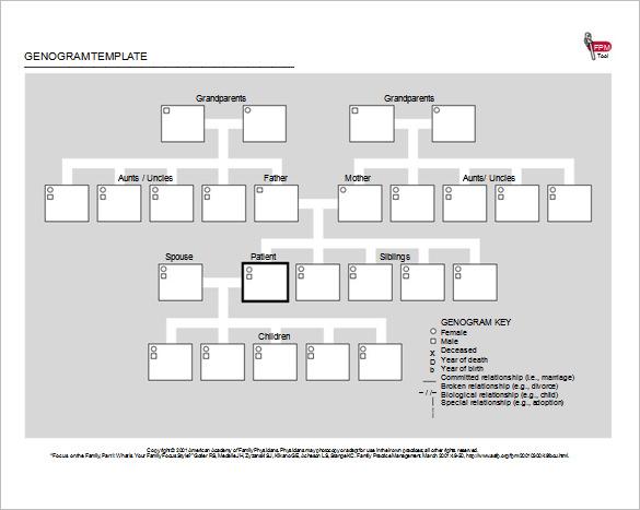 40+ Genogram Templates - PDF, DOC, PSD Free  Premium Templates