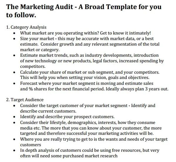 Internal audit report template word - visualbrainsinfo - sample marketing report templete