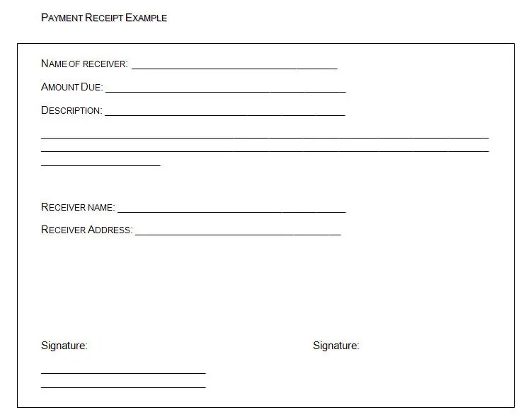 40+ Payment Receipt Templates - Free Sample, Example Format Download - payment receipt sample
