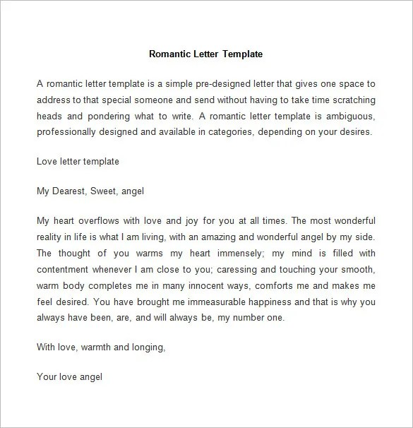 52+ Love Letter Templates \u2013 Free Sample, Example Format Download - how to write romantic letters