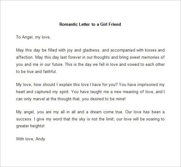 Example Love Letter For Boyfriend – Love Letter Template Word