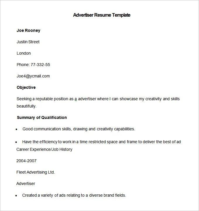 Media Resume Template \u2013 31+ Free Samples, Examples, Format Download - media resume