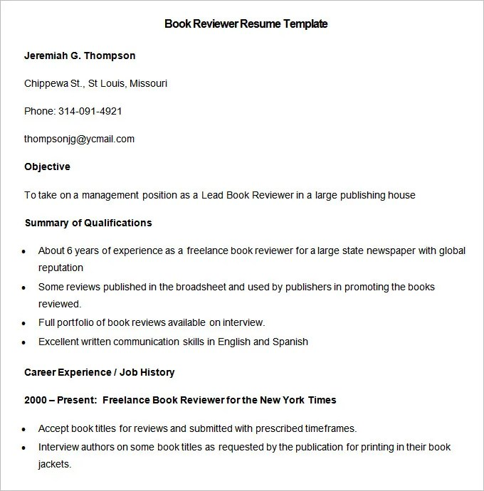 Media Resume Template \u2013 31+ Free Samples, Examples, Format Download - some sample resumes