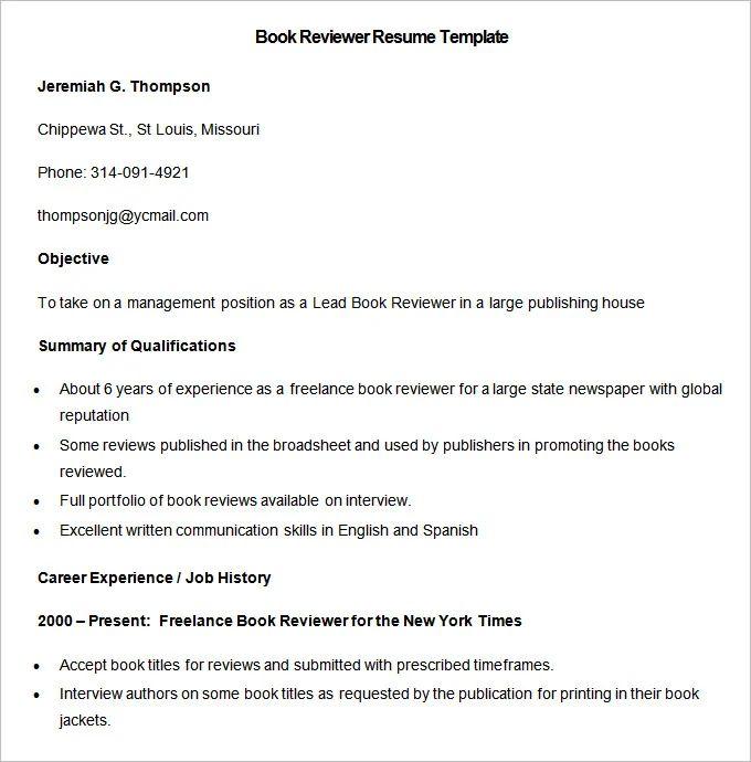 resume job to present