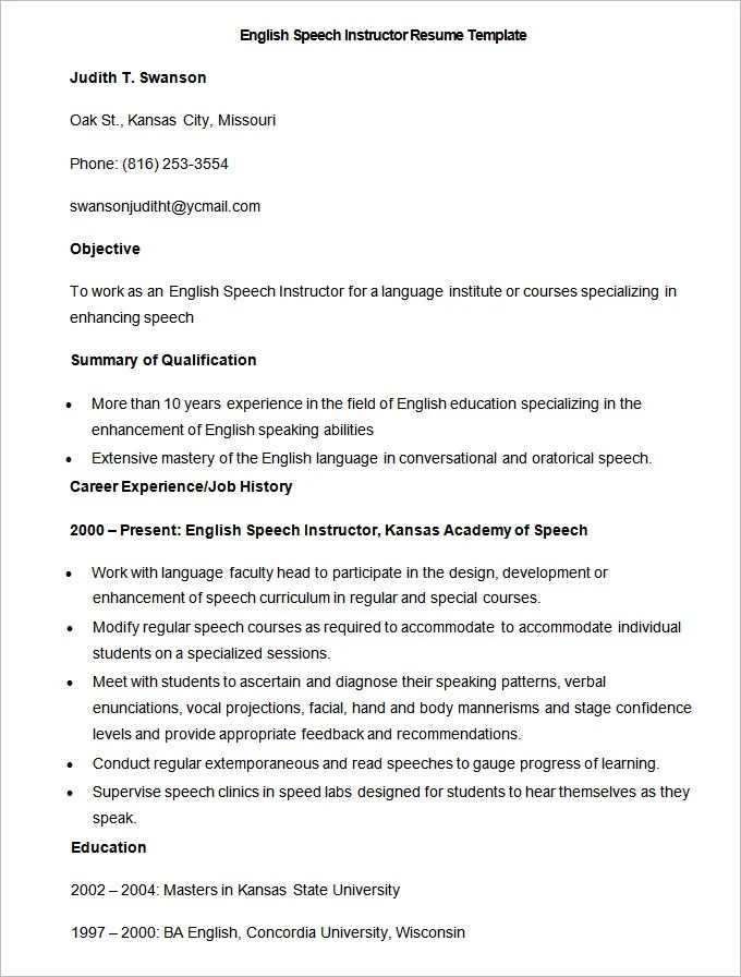 Example Resume Summary Of Qualifications Resume With A Summary Statement Example The Balance 51 Teacher Resume Templates – Free Sample Example Format