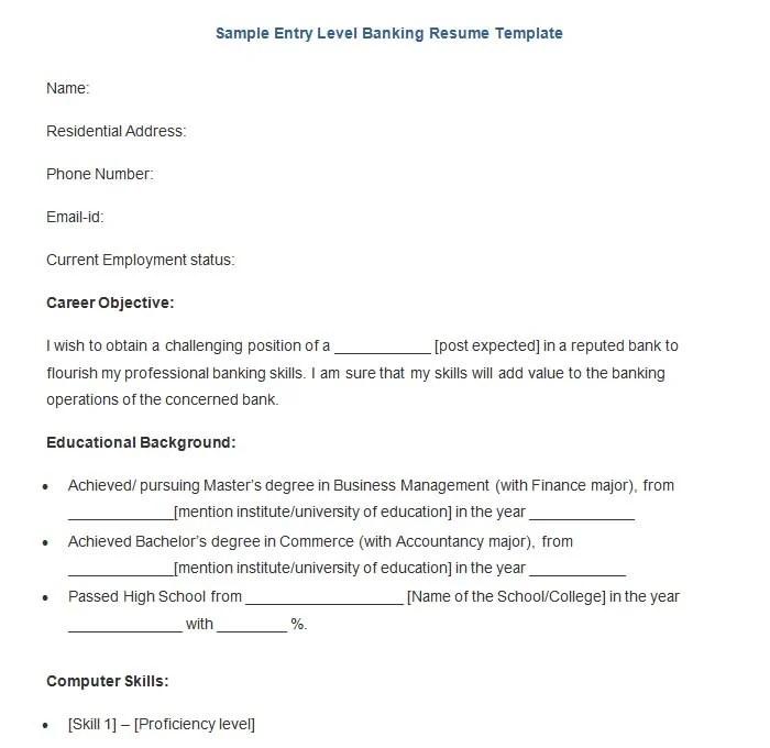19+ Sample Banking Resume Templates - PDF, DOC Free  Premium - sample resume of a banker