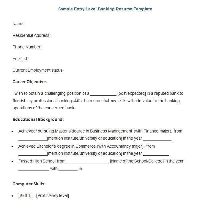 entry level loan officer resume sample