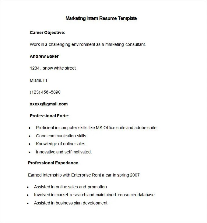Marketing Resume Template \u2013 37+ Free Samples, Examples, Format - Free Resume Samples Online