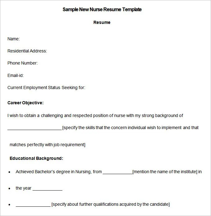 Nursing Resume Template \u2013 10+ Free Samples, Examples, Format - emergency room nurse sample resume