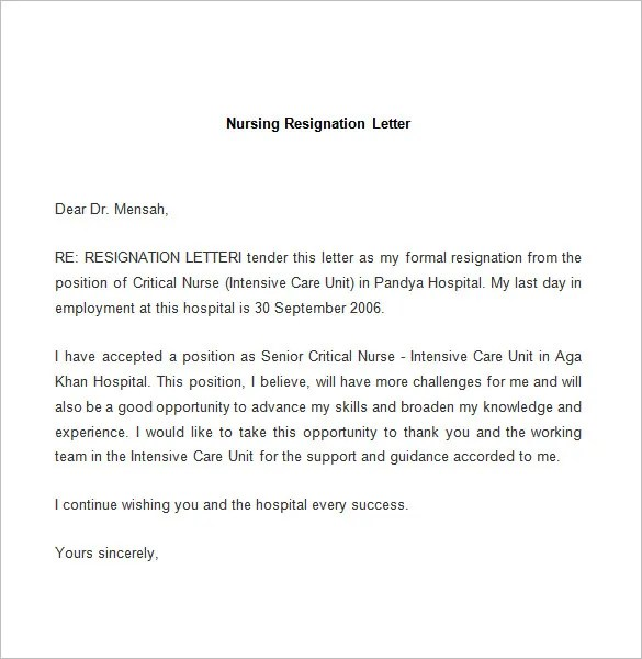 Nursing Scholarships 2017 2018 Scholarship Positions 2018 2019 Resignation Letter Template 25 Free Word Pdf Documents