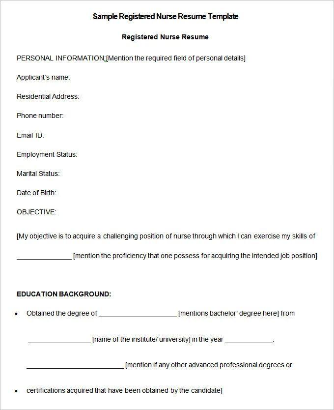 download nursing resume template free