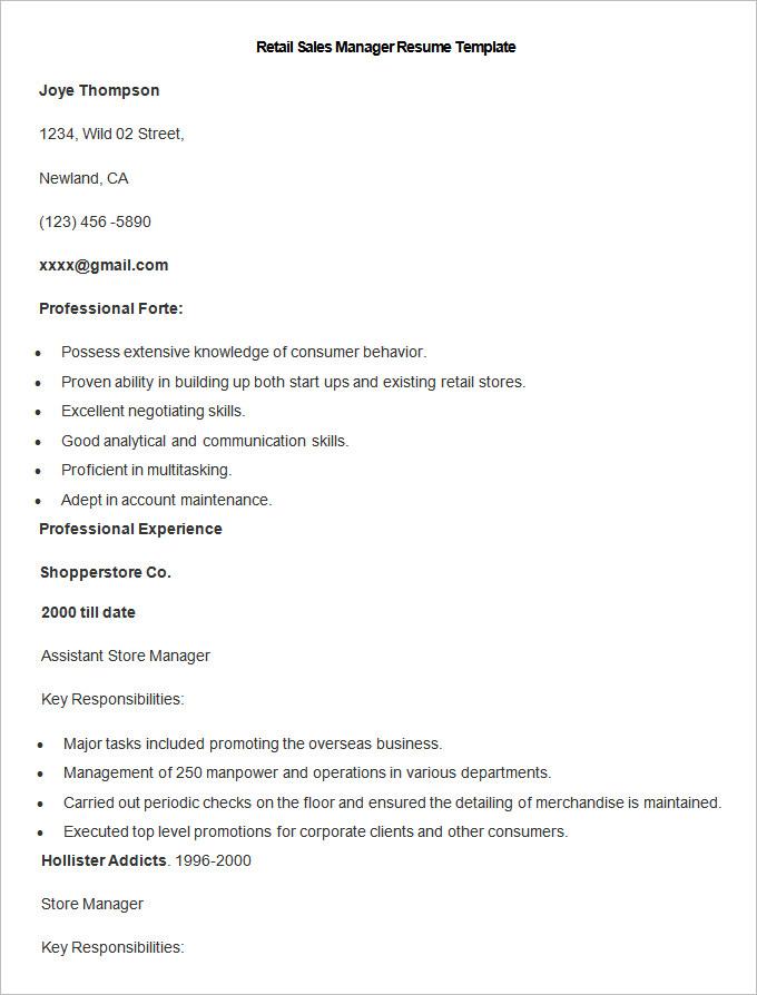 Sales Resume Template \u2013 41+ Free Samples, Examples, Format Download