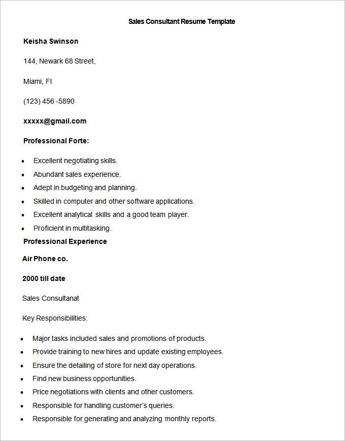 sales consultant resumes - Onwebioinnovate