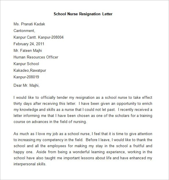 Resignation Letter Template 38 Free Word Pdf Documents Resignation Letter Template 25 Free Word Pdf Documents