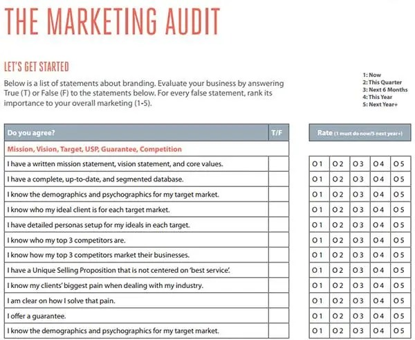 marketing audit example - Ozilalmanoof - audit template sample