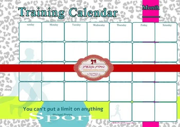 Training Calendar Template \u2013 25+ Free Word, PDF, PSD Documents - training calendar template