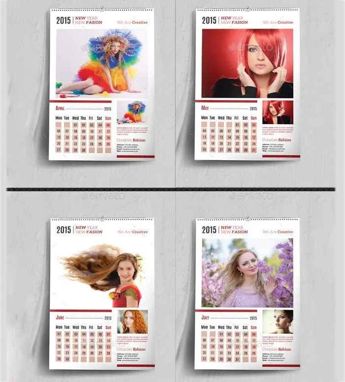 35+ Best Photo Calendar Templates  2015 Designs Free  Premium - calendar sample design