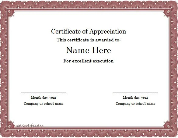word template certificate of appreciation - Onwebioinnovate - How To Make Certificates In Word