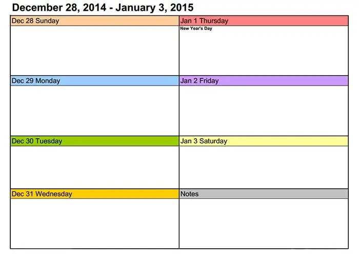 Training Calendar Template \u2013 25+ Free Word, PDF, PSD Documents