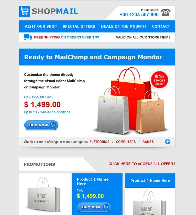 20+ Simple HTML Email Templates Free  Premium Templates