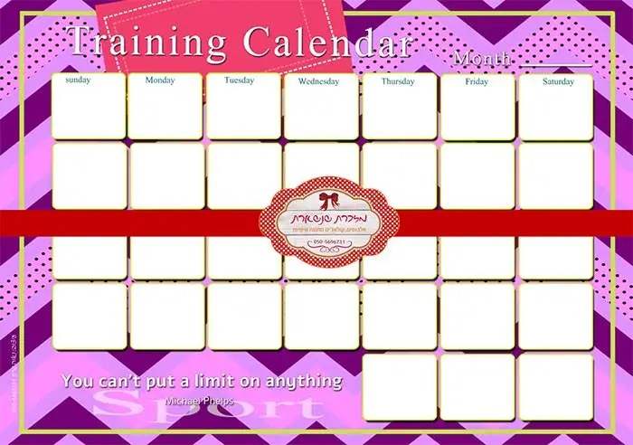 Training Calendar Template u2013 25+ Free Word, PDF, PSD Documents - sample quarterly calendar templates