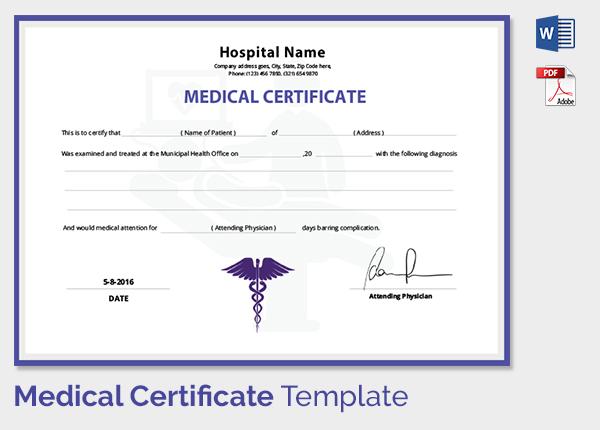 doctor fitness certificate