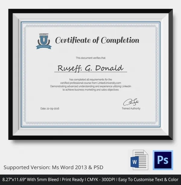 Course completion certificate template fieldstation course completion certificate template yelopaper Gallery