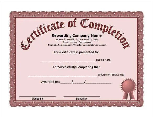 99+ Free Printable Certificate Template - Examples in PDF, Word, AI