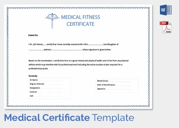 Medical Certificate Template MedicalCertificateTemplate Medical