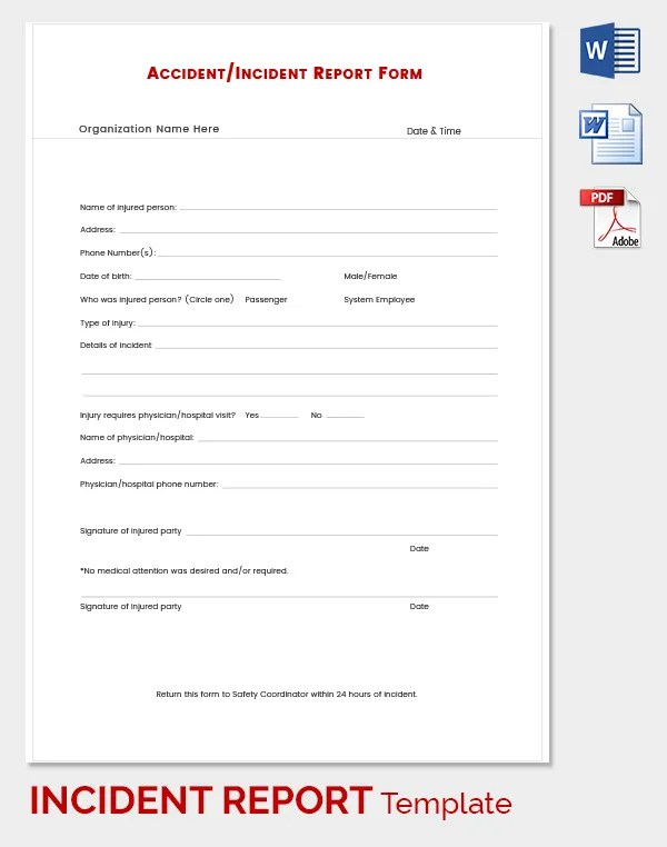 24+ Incident Report Template - Free Sample, Example, Format Free