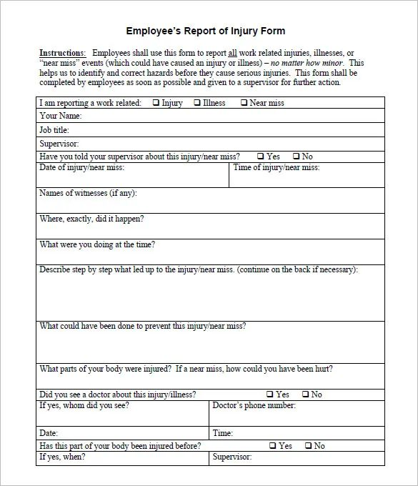 critical incident report form template