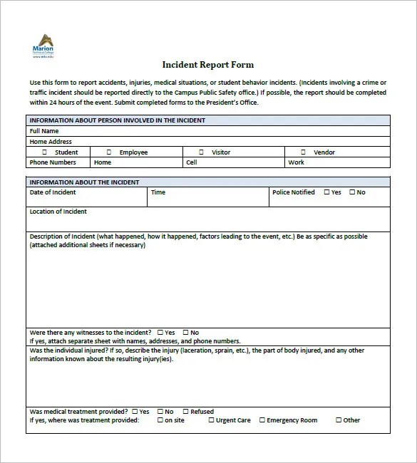 Incident Report Template - 35+ Free Word, PDF Format Download - how to write an incident report