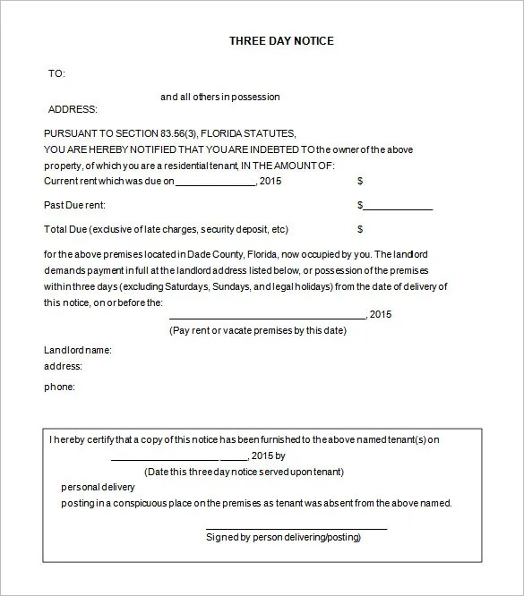 free eviction notice form - Ozilalmanoof