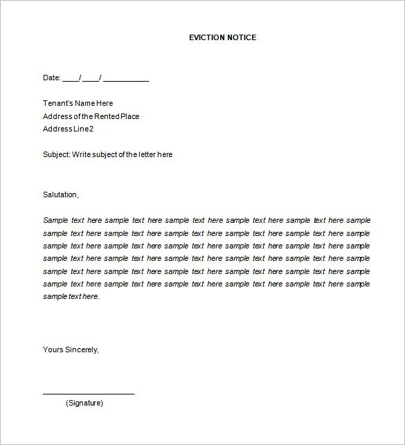 38+ Eviction Notice Templates - PDF, Google Docs, MS Word, Apple