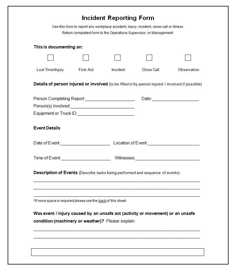 it incident report form template - Maggilocustdesign - police incident report template word